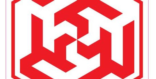 Ali-6-Hexagon-Red