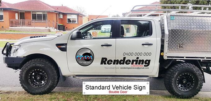 Ford-4WD-ute/Standard-Sign-Double-door