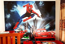 wall graphics stickers spiderman-lightening-McQueen-Wall-Graphi