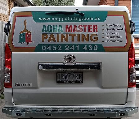 Toyota-Hiace-Crew-Van-Window-Sign