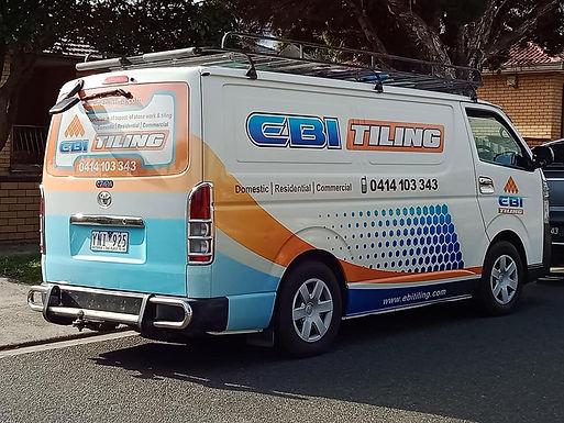 Hiace Van Sign wrap -EBI Tiling