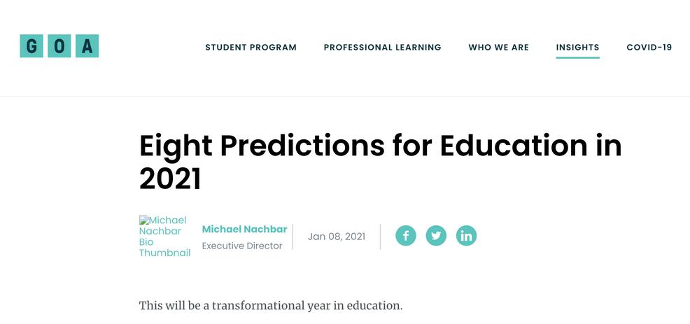 8 Predictions