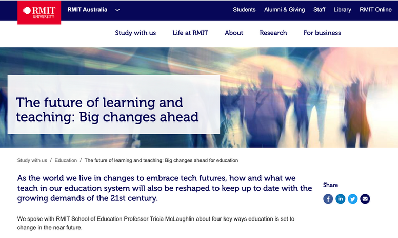 The Future of learning and teaching