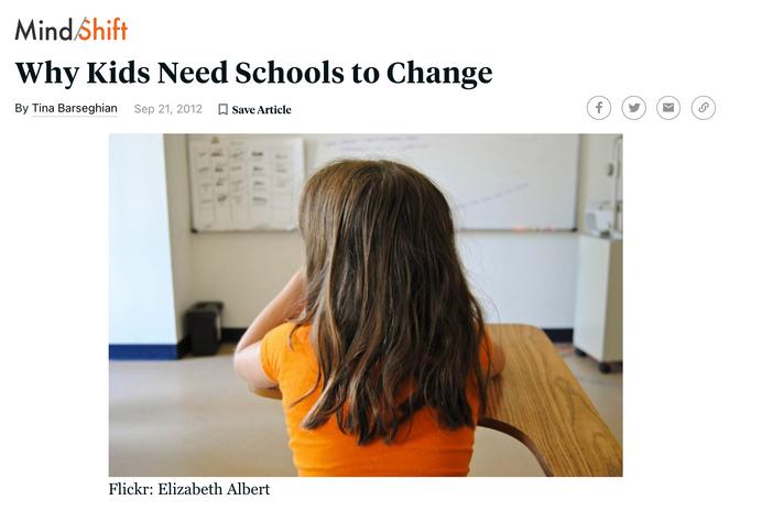 Why kids need school to change
