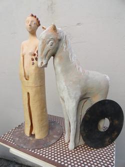 La sposa e il suo cavallo