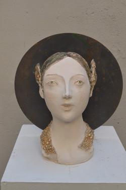 Folletto, polychrome terracotta, recycling, cm 20x18x30, 2016