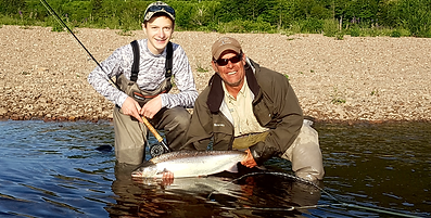 Robert Chiasson Margaree River fly fishing guide