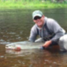 Robert Chiasson Fly fishing guide Margaree  River Nova Scotia