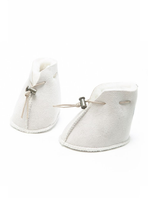 Baby booties - suede finish
