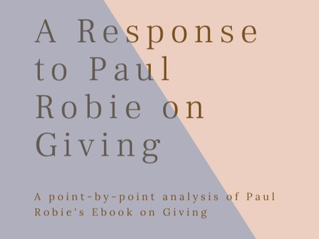Refuting Paul Robie's Ebook on Tithing