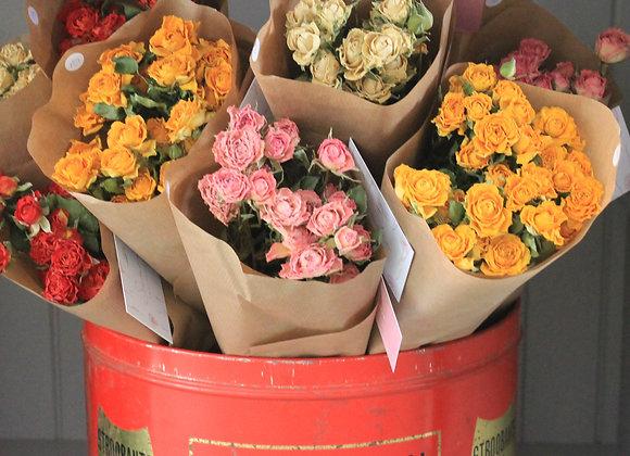 Botte de roses séchées