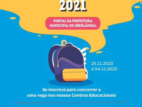 INSCRIÇÃO ESCOLAR 2021.
