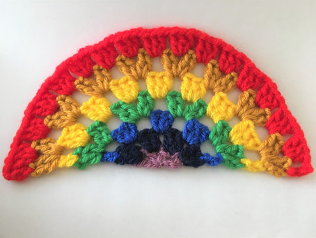 Granny Stitch Rainbow - free pattern