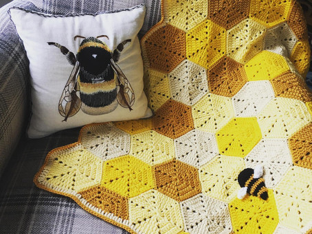 Honeycomb Bee Baby Blanket