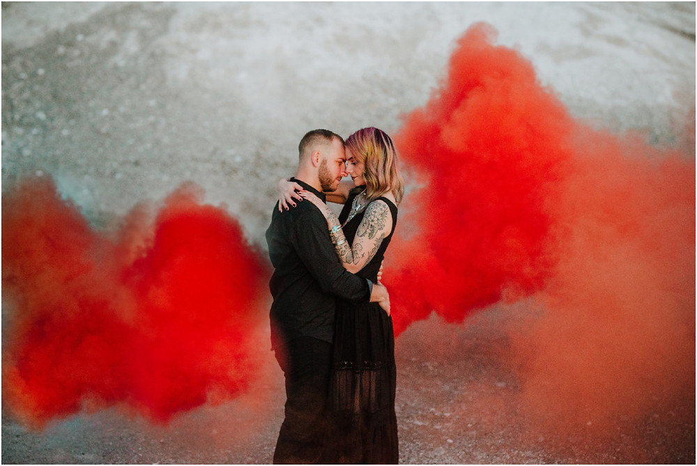 Halloween Themed engagement session in Lancaster PA by Karen Rainier Photography