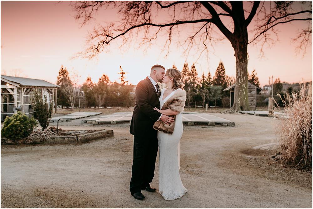 Sunset at Intimate Philadelphia Wedding at Terrain in Glen Mills PA