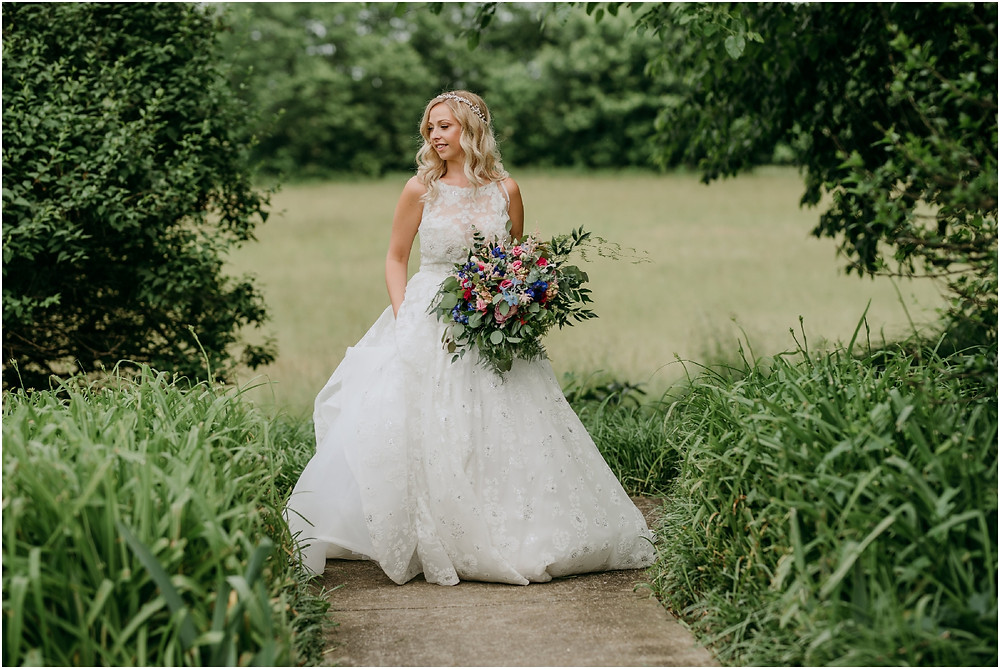 Hayley Paige Gown Colorful Maryland Wedding