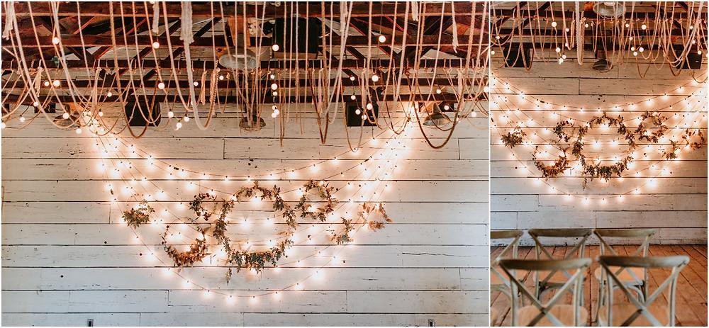 Twinkle lights at Intimate Philadelphia Wedding at Terrain in Glen Mills PA