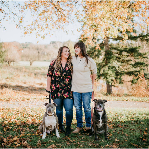 Ally & Lindsay // Fall Color Engagement Session in Maryland