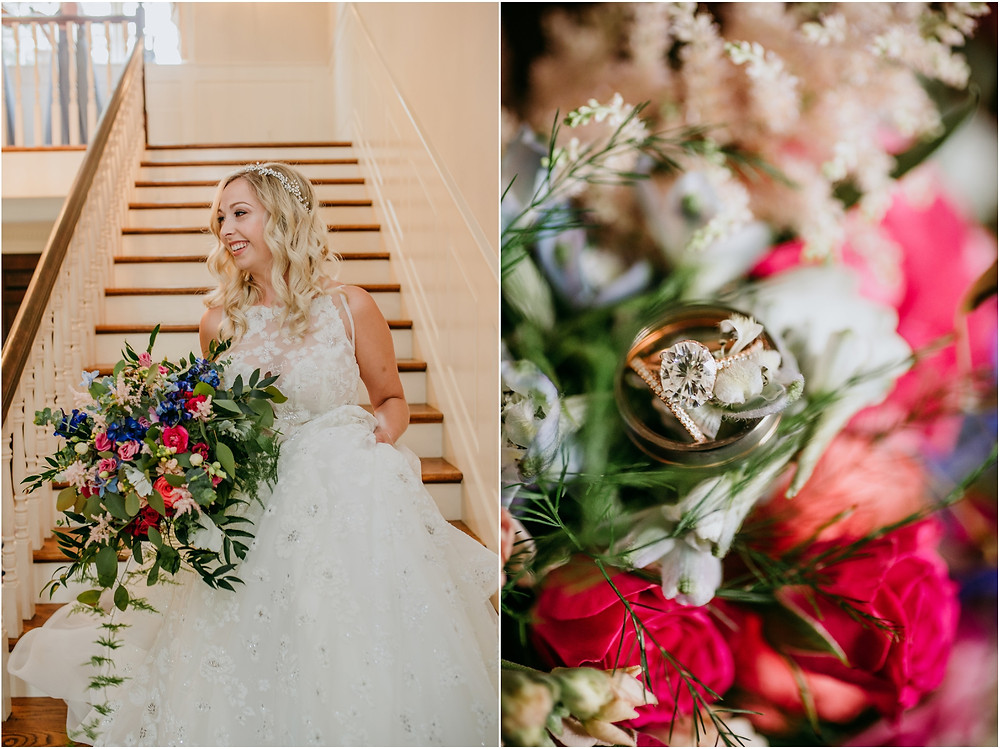 Hayley Paige Gown at Colorful Maryland Wedding