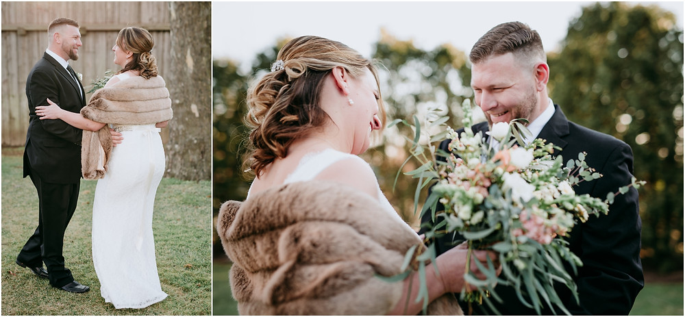 Intimate First look at Philadelphia Wedding at Terrain in Glen Mills PA