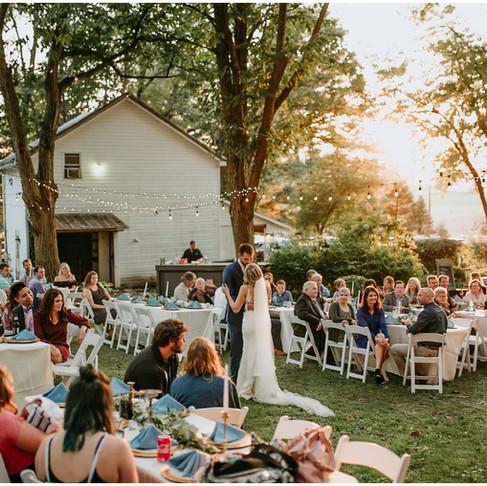 Lauryn & Nate: Dusty Blue & Rose Bohemian Seasons at Magnolia Manor Wedding