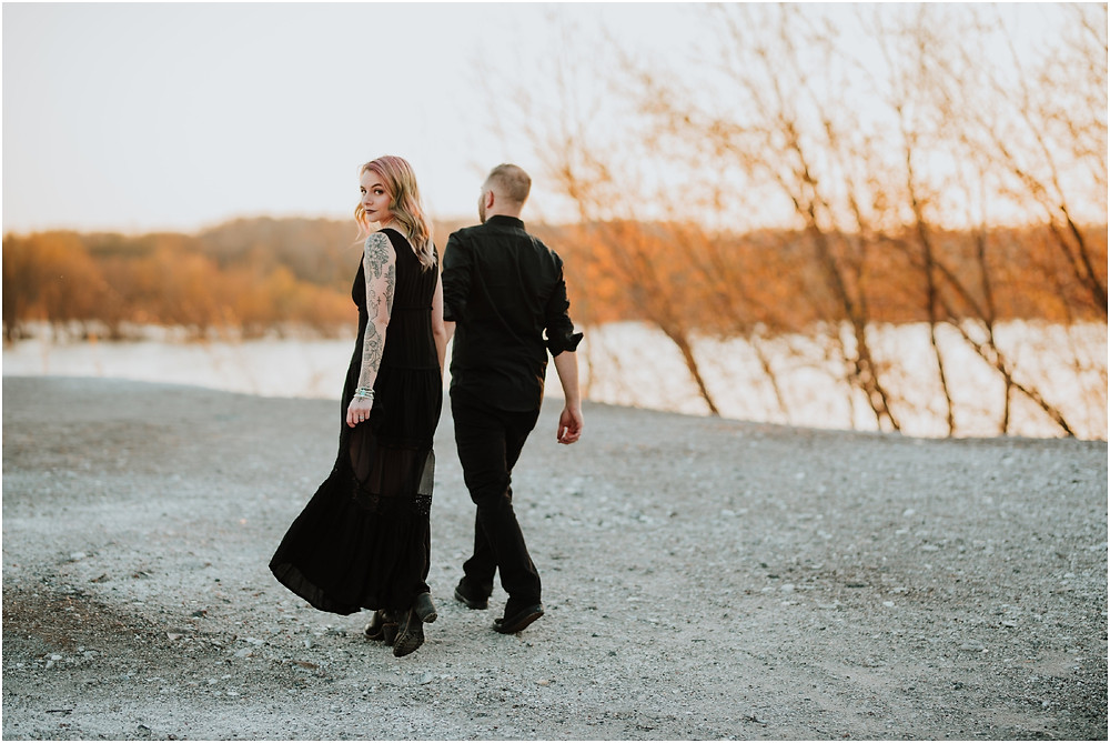 Romantic Halloween Themed Engagement Session by Karen Rainier Photography