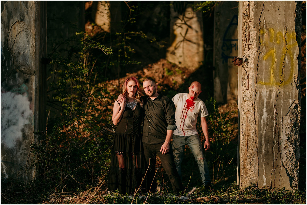 Zombie Photobombs Engagement Session in Pennsylvania