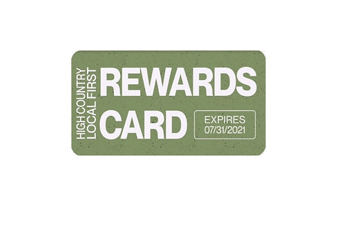 20/21 Rewards Card