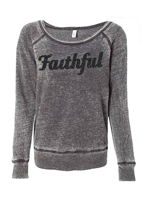 Faithful Sweatshirt (Glitter-Sponge Fleece)