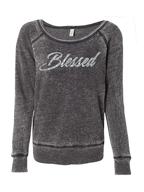 Blessed Sweatshirt (Silver Glitter)