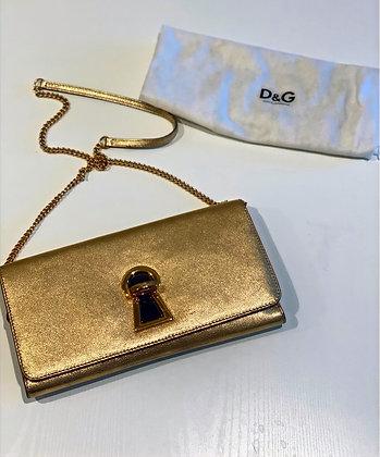 Dolce & Gabbana Gold Shoulder Bag/Clutch