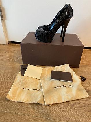 Louis Vuitton Sequin Pumps 37 7.5