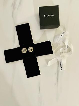 Chanel CC Logo Stud Earrings