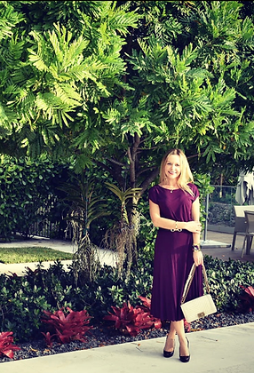 Gucci Wine Burgundy Dress w/Belt Sz. S