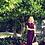 Thumbnail: Gucci Wine Burgundy Dress w/Belt Sz. S