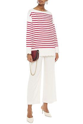 Dolce & Gabbana Striped Lace Trim Top Sz. 38