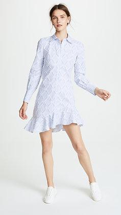 Derek Lam Striped Ruffle Dress