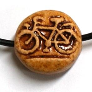 little charm - my bike - μίνι κεραμική χάντρα - ποδηλατάκι