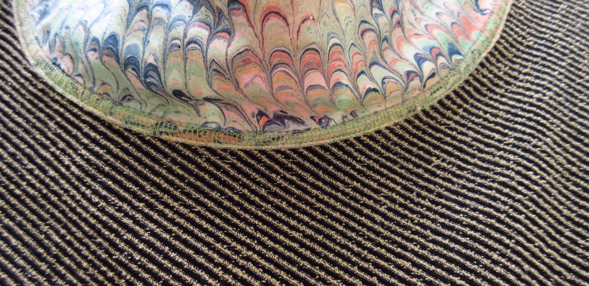 Italian Brocade, collar detail
