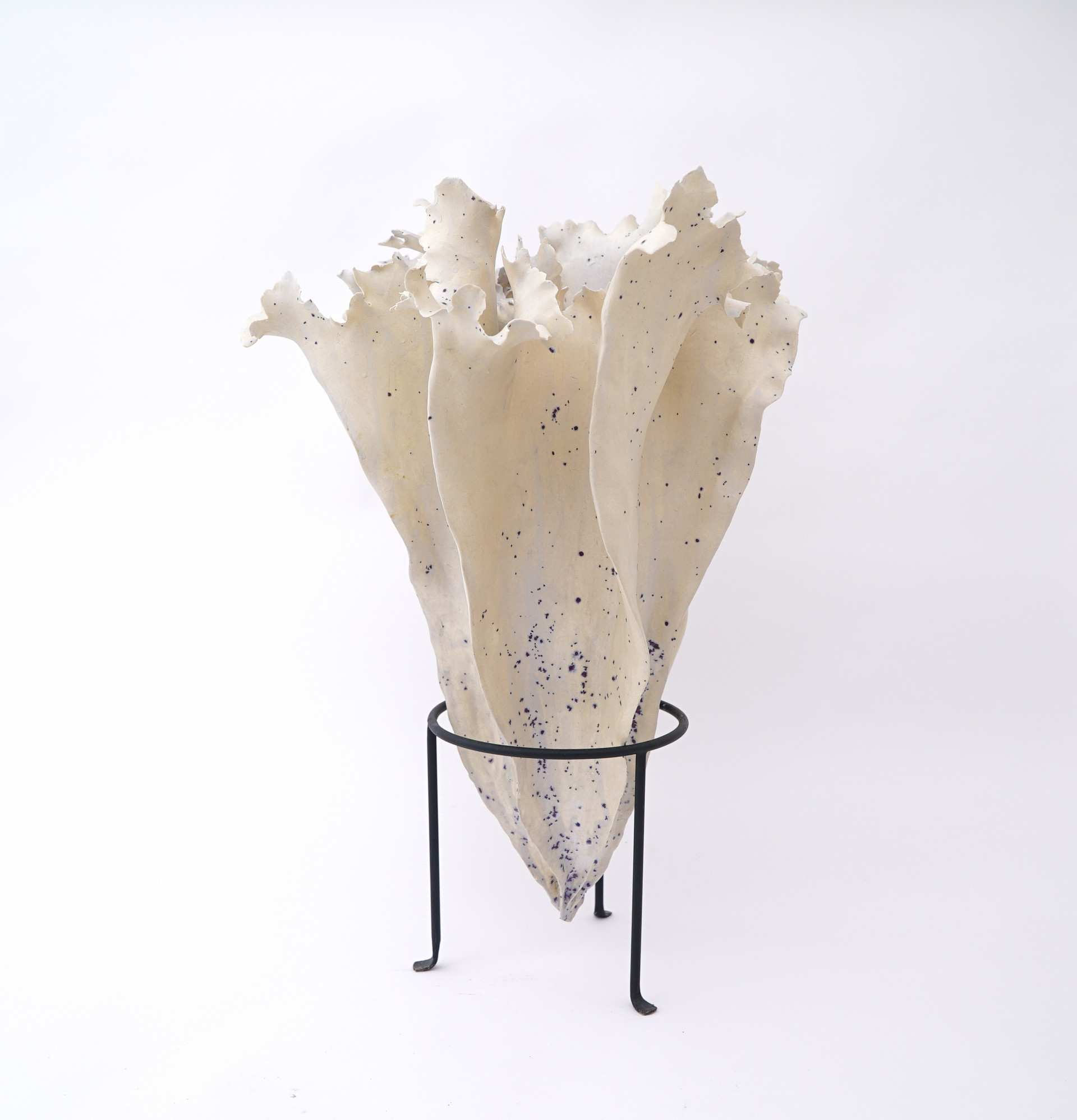 """Heart Of The Flame, 2019 porcelain, ceramic glaze 20""""h x 15""""w x 17""""d AVAILABLE"""