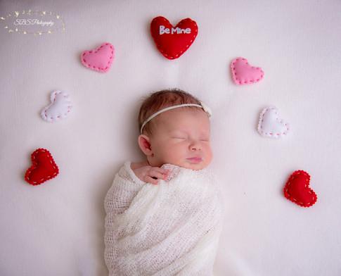 Valentine's Day Newborn Session Connecticut