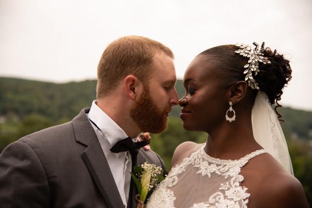 Connecticut Wedding- Bride and Groom at Hopkins Vineyard.