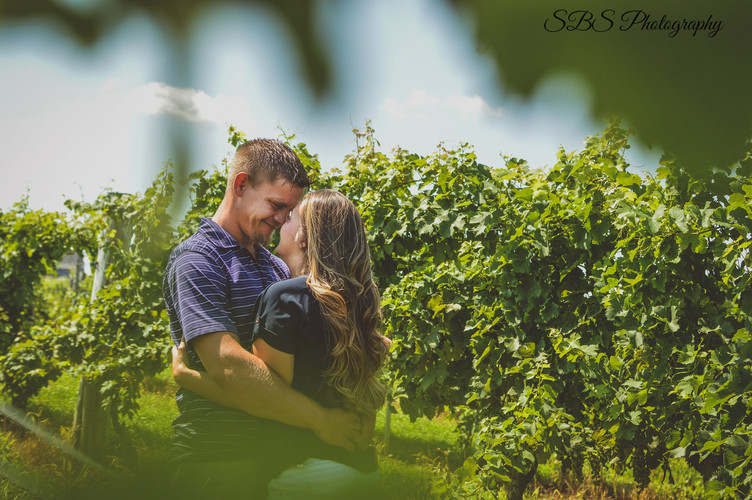 Gouvia Vineyard Engagement Session: Wallingford, CT SBS Photography