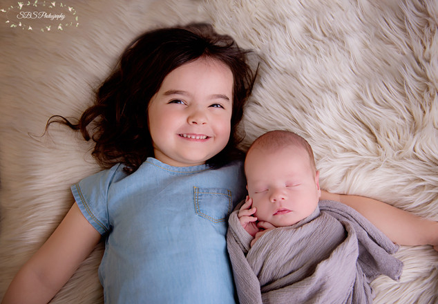 Toddler and Brother Newborn Session Connecticut