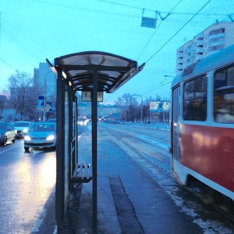 Трамвайные остановки на Симферопольском бульваре