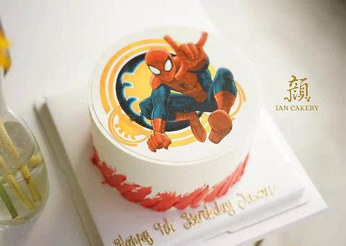 Spiderman image cream cake