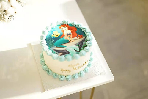 Little Mermaid image cream cake
