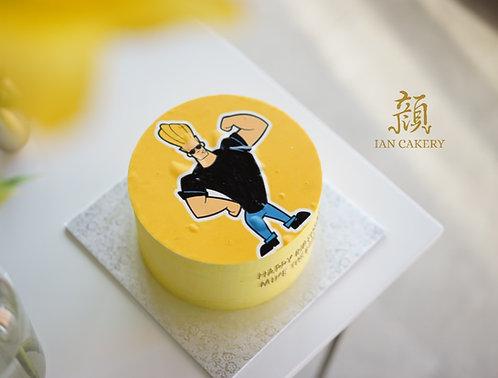 Muscleman image cream cake