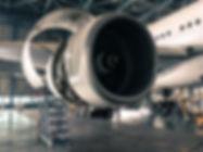 Aircraft opened engine for maintenance i